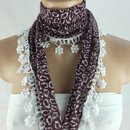 Maroon scarf, cotton scarf, woman f..