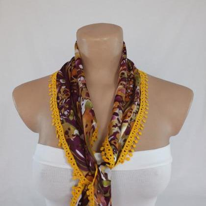 Multicolor chiffon scarf, fashion s..